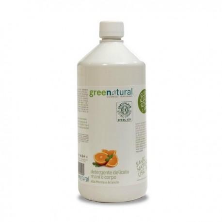gn detergente mani e corpo menta arancio ecobio 1000 ml