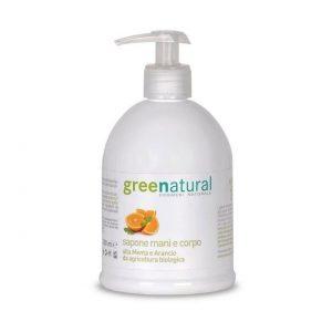 greenatural sapone mani e corpo menta arancio 500 ml 665621 it