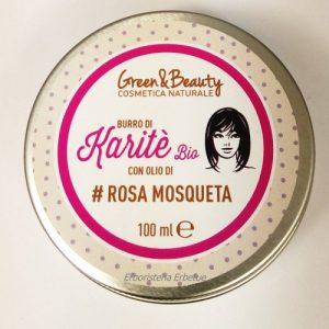 Greenatural Burro di Karite Bio con Olio di Rosa Mosqueta bio