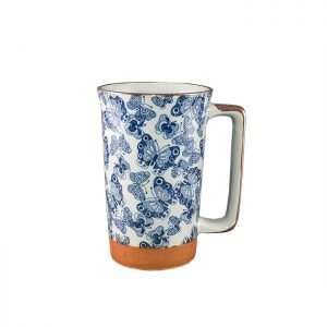 Tazza grande con motivi farfalle in ceramica Giapponese – Sopha diffusion- 2854