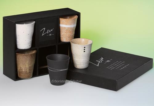 erboristeria erbetue set tazze ceramica zen giapponese