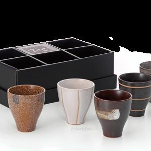 erboristeria erbetue set tazze ceramica zen kotarou giapponese