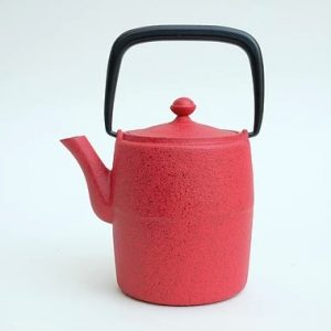 japan design teiera ghisa rossa r1152
