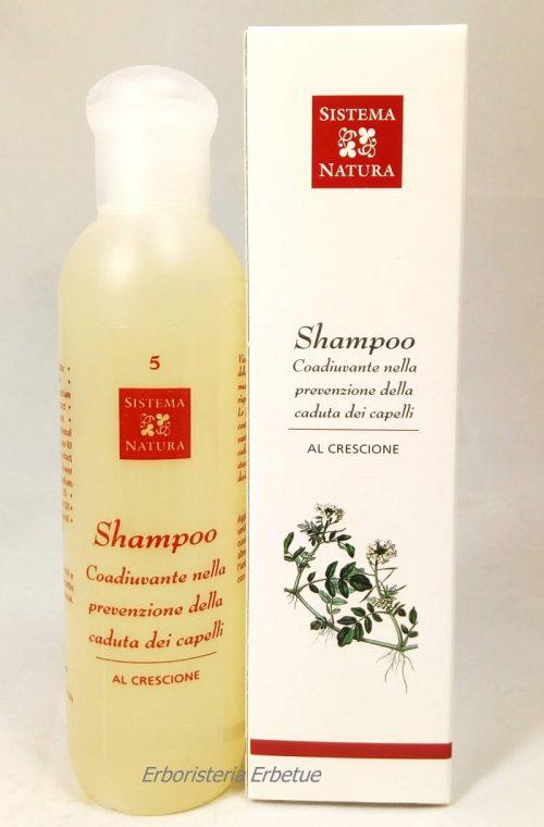 sistema natura shampoo china crescione caduta capelli
