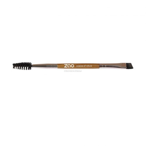 zao makeup accessori pennello sopracciglia duo 712