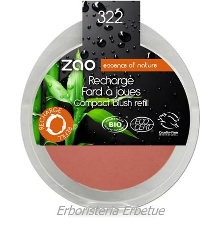zao ricarica fard compatto 322 marrone rosa