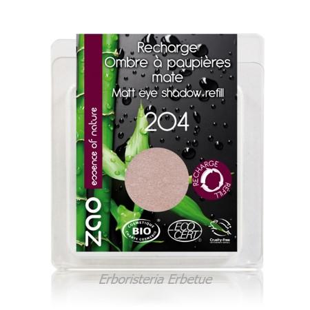 zao ricarica ombretto opaco 204 rosa