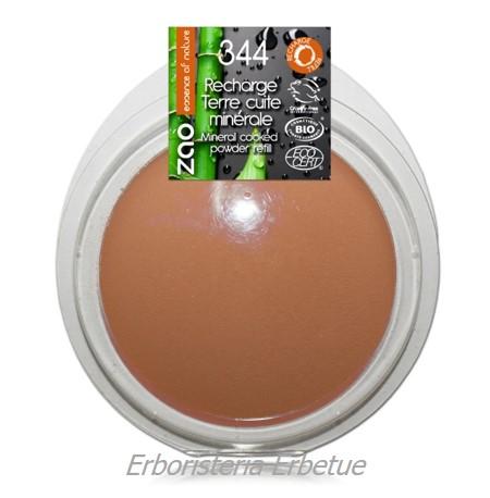 zao ricarica terra cotta minerale 344 cioccolato opaco terracotta