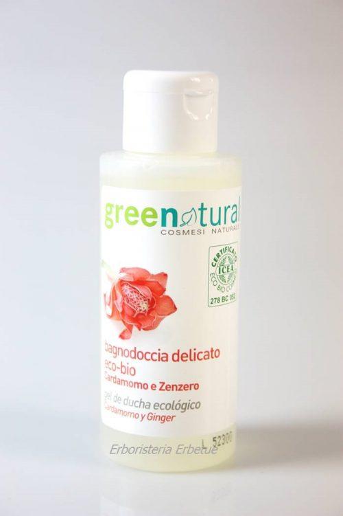 greenatural bagnodoccia cardamomo delicato 100ml