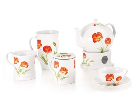 tazze fiori rossi erboristeria erbetue