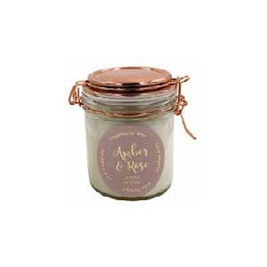 candela vetro con coperchio rame erboristeria erbetue